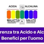 Differenza tra Acido e Alcalino| benefici per l'uomo